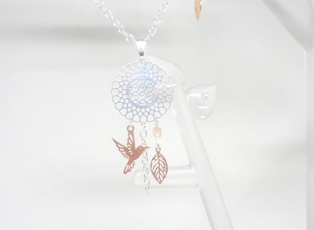 Bracelet feuille or rose gold gris argent/é minimaliste mariage c/ér/émonie bapt/ême perles verre de Boh/ême