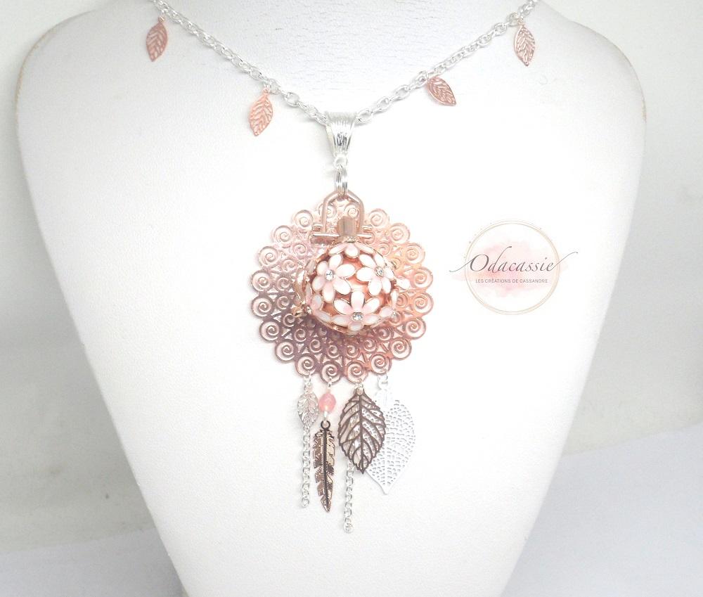 bijou de grossesse or et rose cage fleurs strass perles. Black Bedroom Furniture Sets. Home Design Ideas